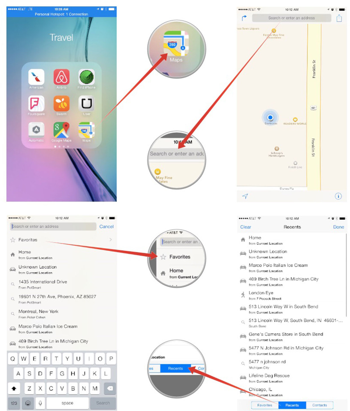 Heres how to delete your prior destination history in maps how how to delete previous searches in the maps app for iphone and ipad ccuart Images